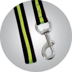 lonża czarno-zielona