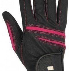 Rękawiczki Horsenjoy Ascott czarno- różowe rozmiar S HS