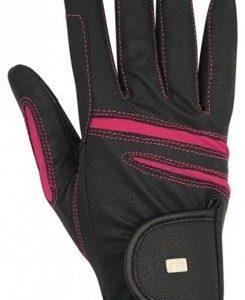 Rękawiczki Ascott czarno- różowe